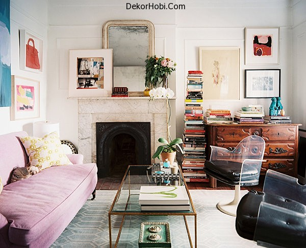 A-stack-of-books-in-a-chic-living-room