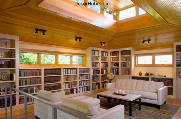 Beautifulnatural-wood-and-ample-natural-lighting-accompany-this-Home-Library