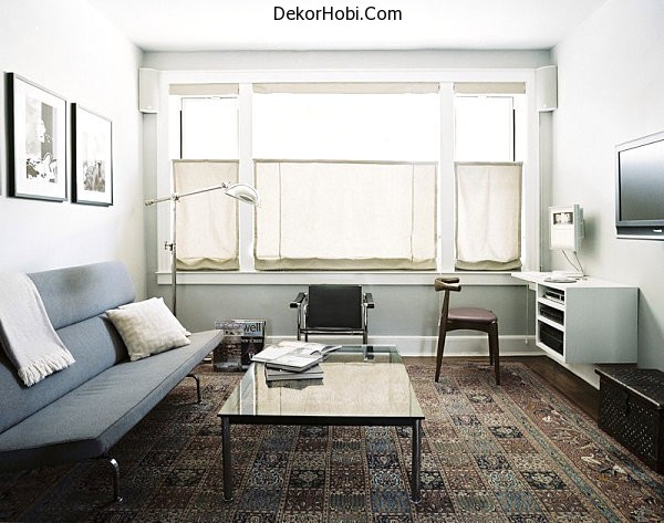 Clean-lined-furniture-in-a-modern-interior
