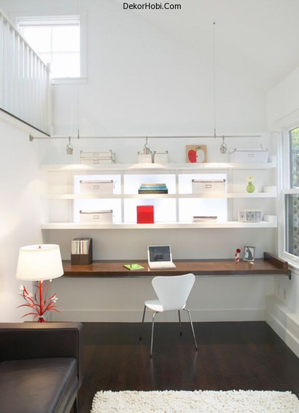 Lovely-modern-home-office-with-a-white-backdrop
