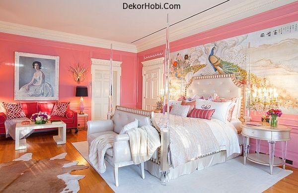 Pink-walls-bedroom-design