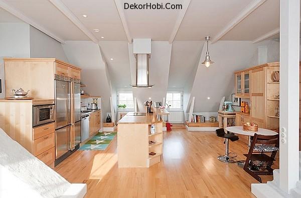 Scandinavian-kitchen-decor-with-wooden-furnishing