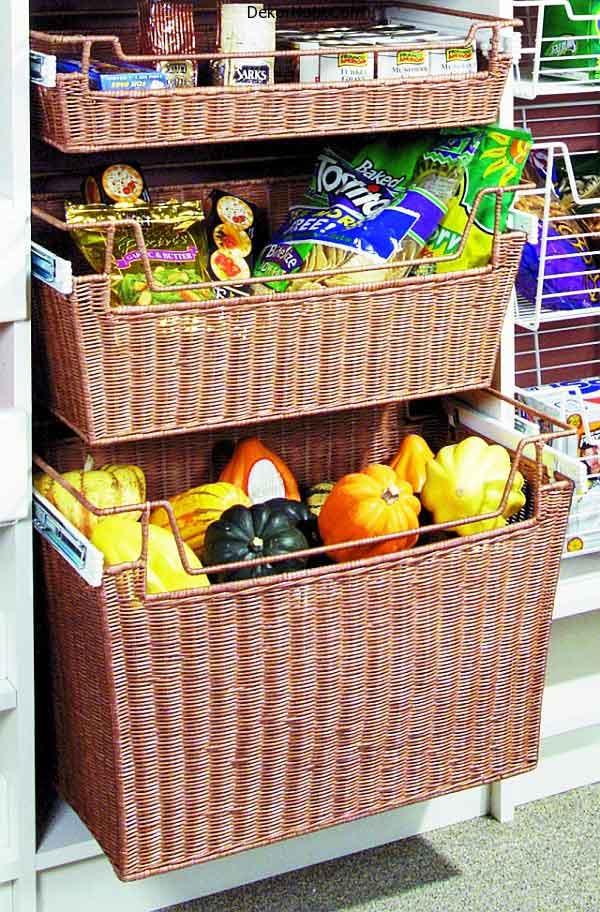 Wicker-baskets-for-kitchen-storage