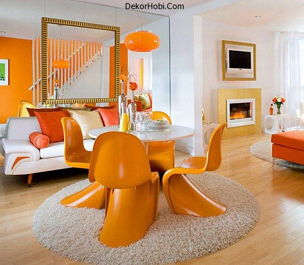 white-and-orange-living-and-dining-room