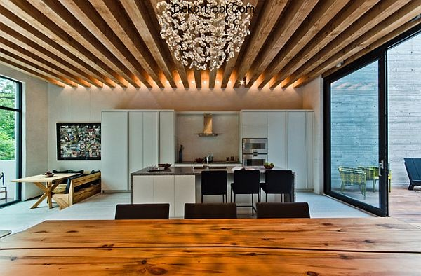 wooden-beams-ceiling-in-the-kitchen
