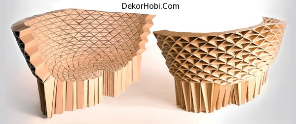 Geometrik karton kanepe