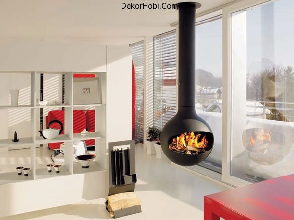Scandinavian-living-room-with-suspended-fireplace