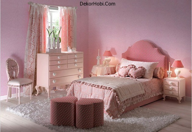 baby-pink-walls-with-matching-bed-set-630x433