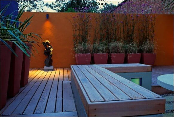 back-yard-modern-deck-orange-wall