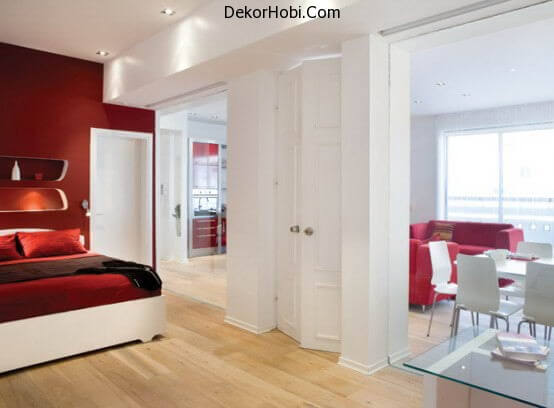 beautiful-red-and-white-apartment-decor-bedroom