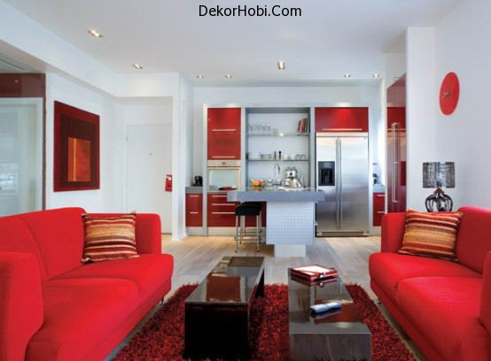 beautiful-red-and-white-apartment-decor-vibrant-couch1