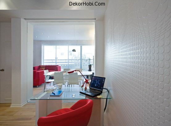beautiful-red-and-white-apartment-decor-workstation