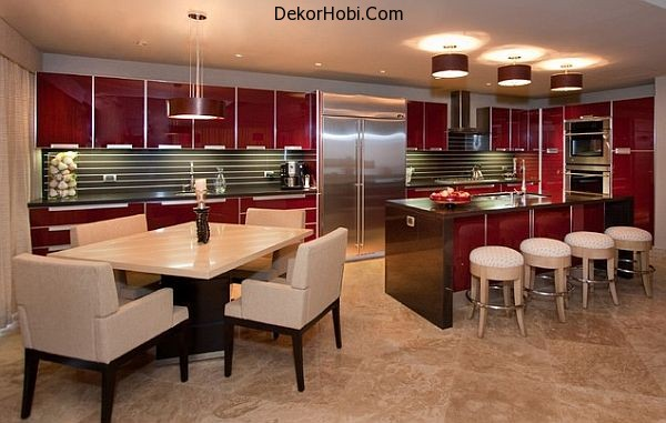 kitchen-with-red-glass-cabinetry