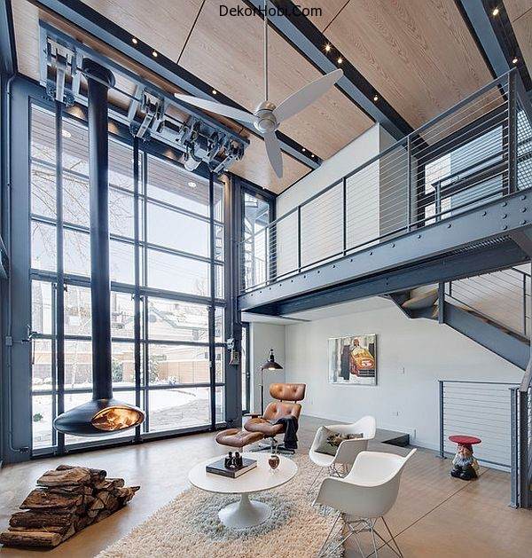 steel-and-glass-living-room-with-suspended-fireplace