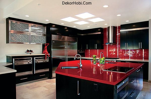 ultra-glossy-red-kitchen-counter