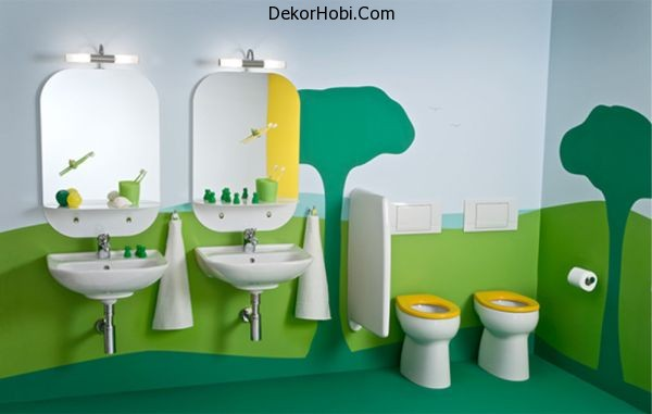 Childrens-bathroom-with-a-extravagantly-playful-and-vivid-theme