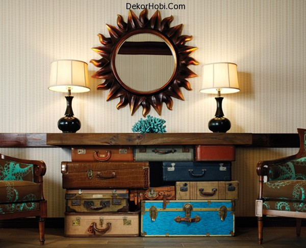 diy-table-on-stacked-vintage-suitcases