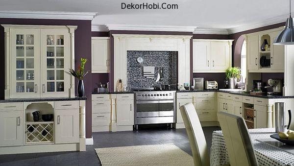 kitchen-purple-walls-and-white-furniture