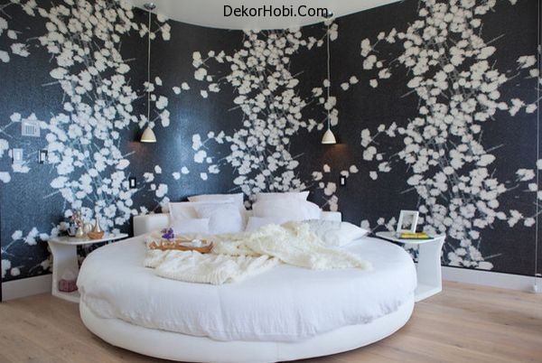 Circle-bed-can-complement-a-curved-wall-to-perfection