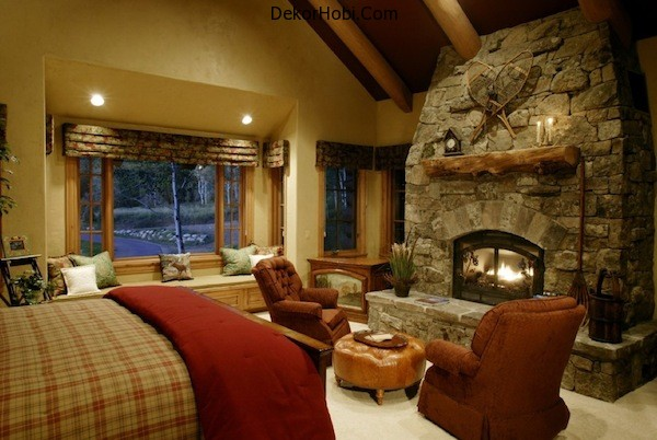 rustic-fireplace-bedroom