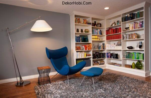 Contemporary-family-room-with-a-stylish-bookcase-in-the-corner