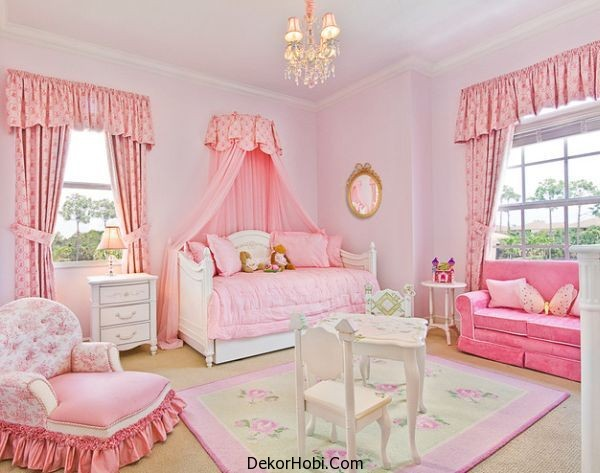 Princess-themed-bedroom-with-gorgeous-furniture-that-goes-along-with-the-look