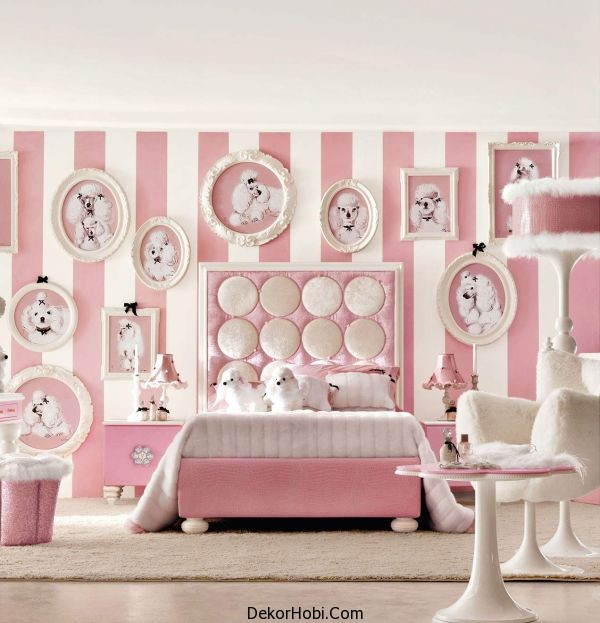 Super-cute-teenage-girls-room-in-chic-white-and-posh-baby-pink