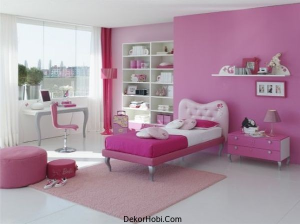 White-and-pink-girls-bedroom