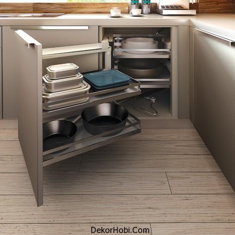 Intema Mutfak - Vetro - Tel sepetli köşe alt dolabı 1