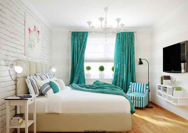 turkuaz-renkli-yeni-tasarim-yatak-odasi-modelleri8