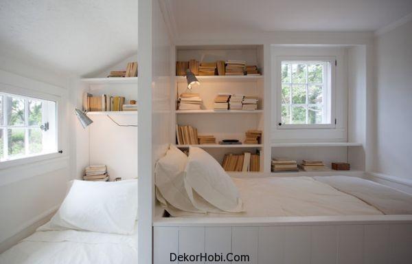 Beyaz Küçük Yatak Odası Modelleri