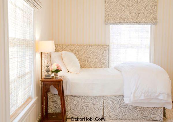 Beyaz Tonlarda Küçük Yatak Odası