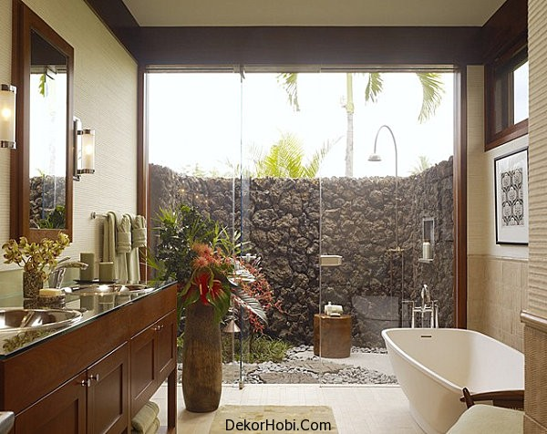 Contemporary-tropical-bathroom