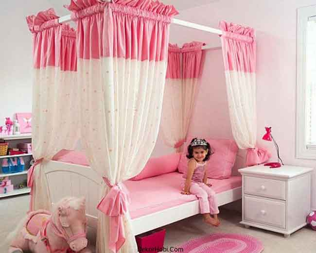 Elegant-Girls-Bedroom-In-Pink-With-Princess-Theme