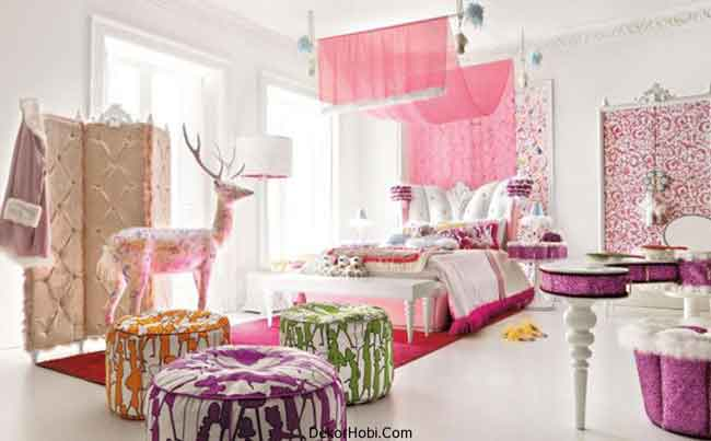 Exqusite-Pink-Teen-Girls-Room-In-Pink-Sports-A-Multitude-Of-Plush-Textures