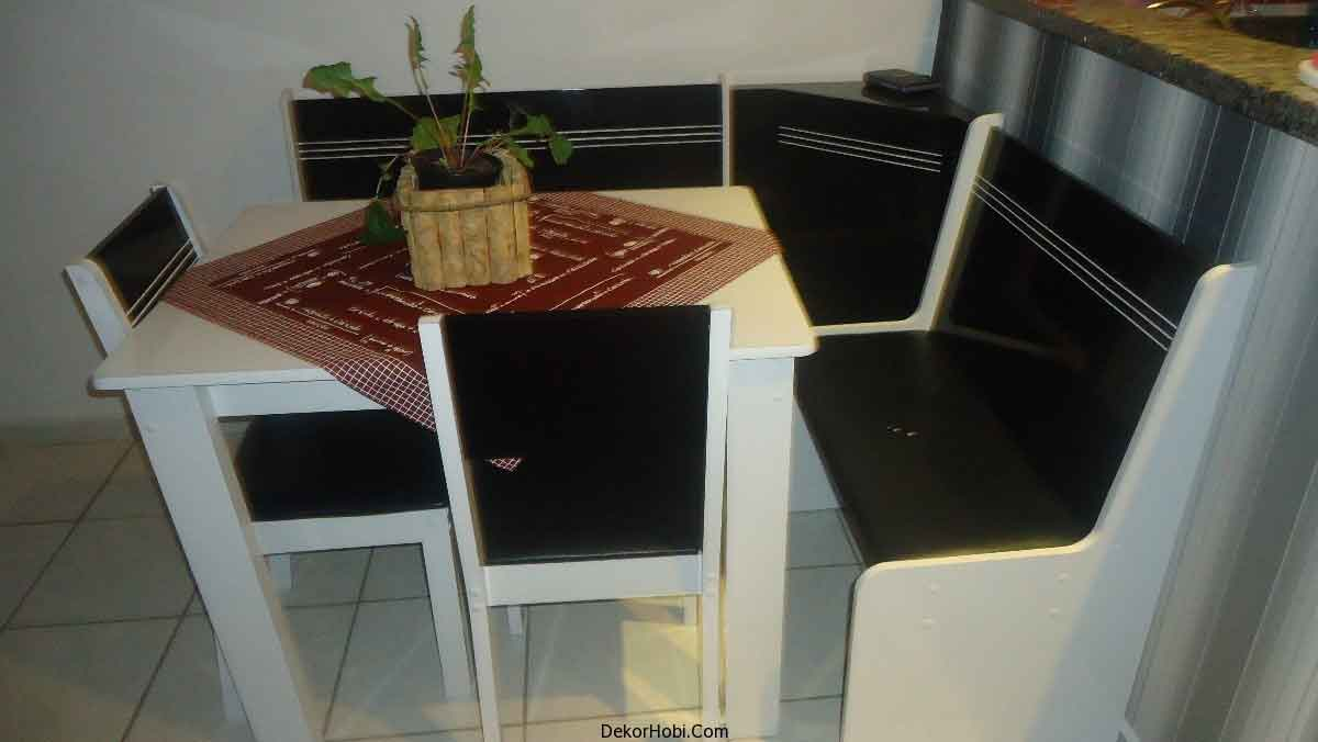 Köşe Mutfak Yemek Masaları