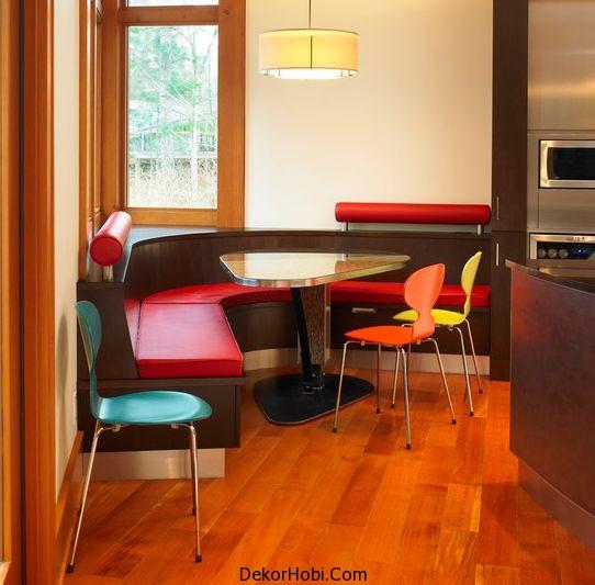 Modern Köşe Mutfak Masaları