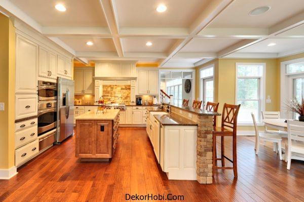 Mutfakta Taş Kaplama Duvarlar