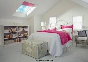 Teras Katı Küçük Yatak Odası Modelleri