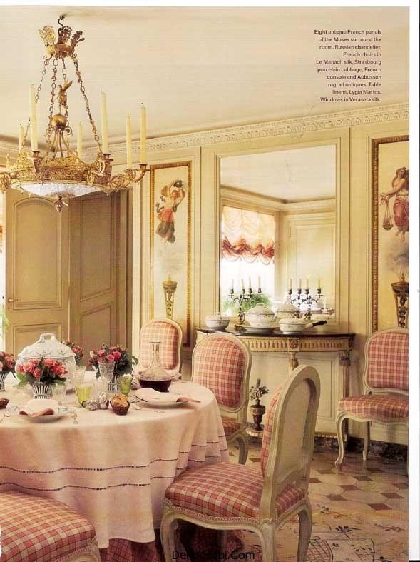fransiz yemek odalari 9