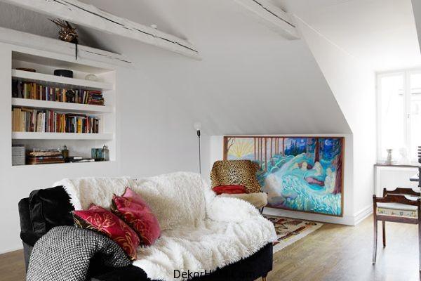 Çatı katı yatak odası modeli