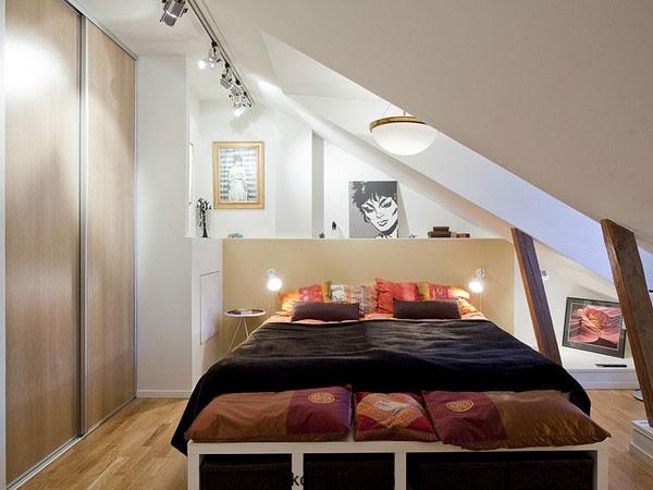 tavan arası Küçük Yatak Odası Tasarımı