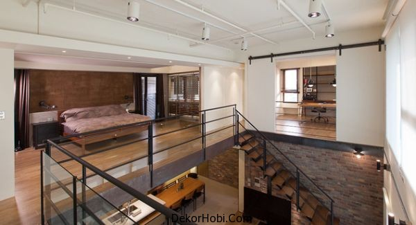 Modern bir loft daire