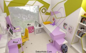 Kübist Genç Kız Odası