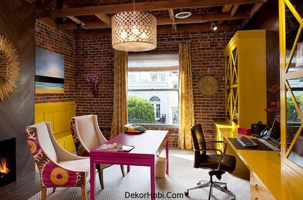 Sarı ve Radiant Orkide Duvarlar