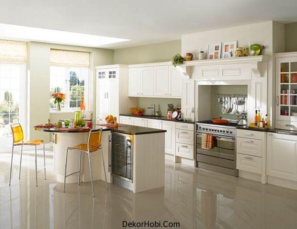 Beyaz Mutfak Dizaynı 2014