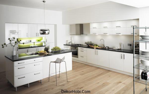 Modern Beyaz Mutfak Dekorasyonu