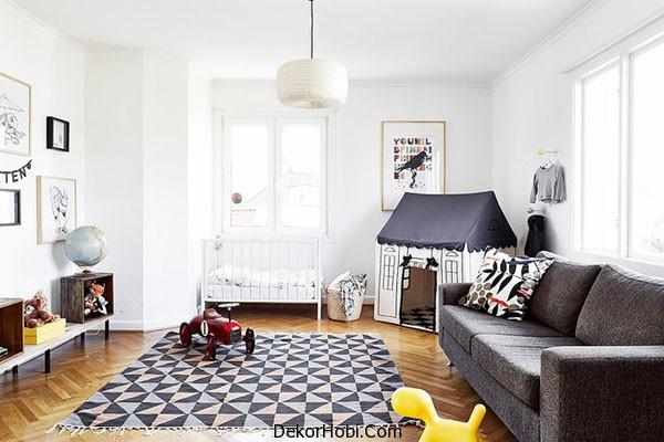 İskandinav Oturma Odası Dekorasyonu