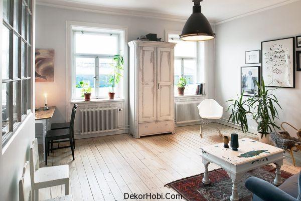 Vintage Tasarımlara SAhip Oturma Odası