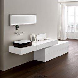 Modern Beyaz Banyo Tasarımı 1